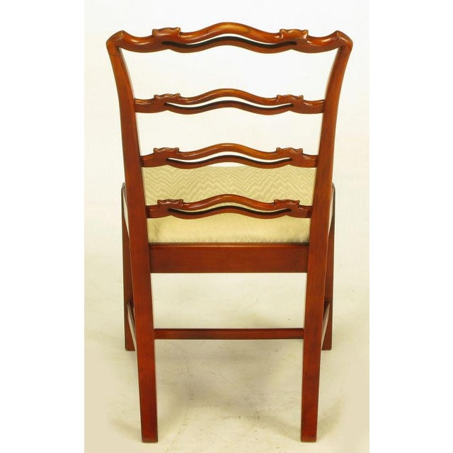 Six Ribbon Back Chippendale Dining Chairs - Image 8 of 10