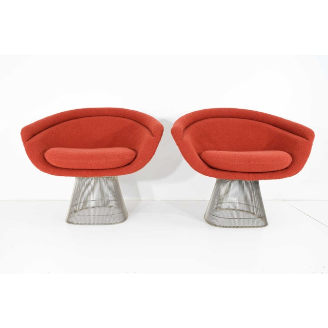 Mid-Century Modern 1960s Warren Platner Nickel Plated Lounge Chairs - a Pair For Sale - Image 3 of 10
