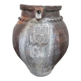 Antique Spanish Ceramic Water Jar From Valencia For Sale