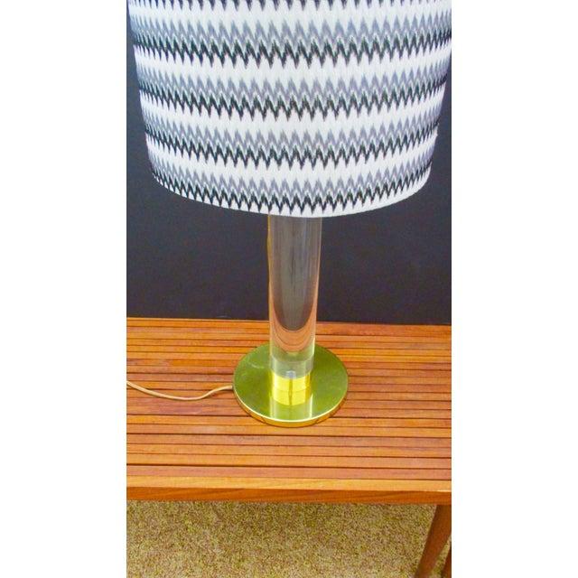 Mid Century Modern Modernist Karl Springer Style Lucite Table Lamp For Sale - Image 10 of 13
