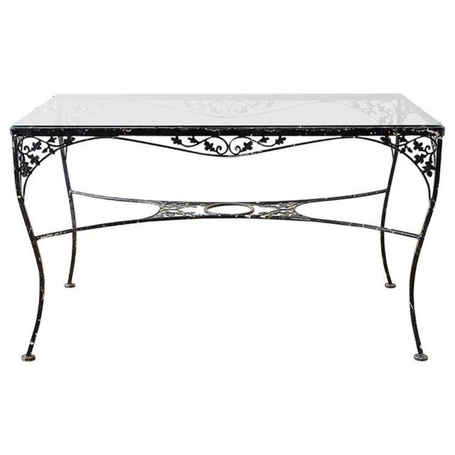 Salterini Style Wrought Iron Patio Garden Table For Sale - Image 13 of 13
