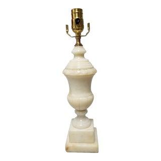 Vintage 1930s Alabaster Urn Lamp For Sale