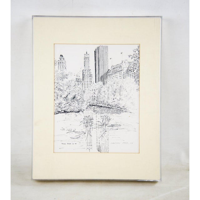Pink Bruce Armon New York Ink Sketch Prints - Set of 7 For Sale - Image 8 of 13
