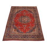 Image of Antique Persian Tabriz Wool Rug- 9′8″ × 12′9″ For Sale
