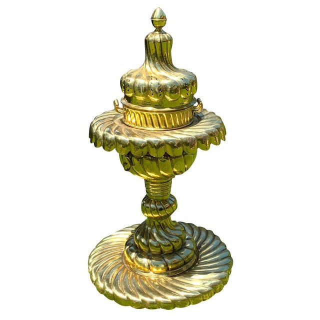 Large Turkish Spiral Brass Brazier For Sale - Image 12 of 12