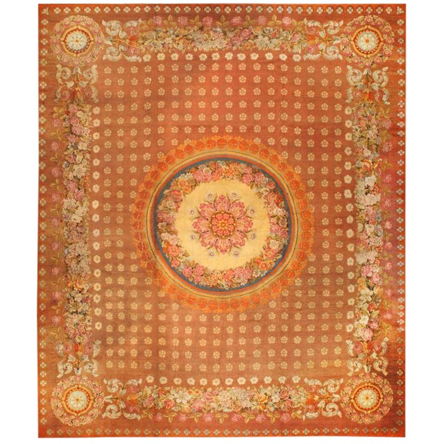 Antique Oversize Early 19th Century English Axminster Carpet For Sale