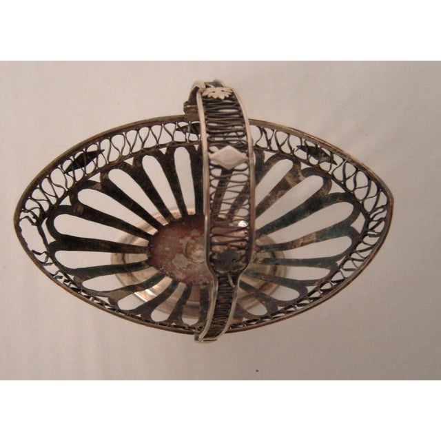 Neoclassical European Silver Neoclassical Basket For Sale - Image 3 of 6