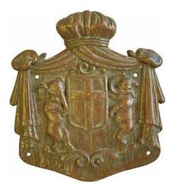 Antique English Bronze Heraldry Shield With Elephants Wall Plaque  sc 1 st  Chairish & Antique English Bronze Heraldry Shield With Elephants Wall Plaque ...