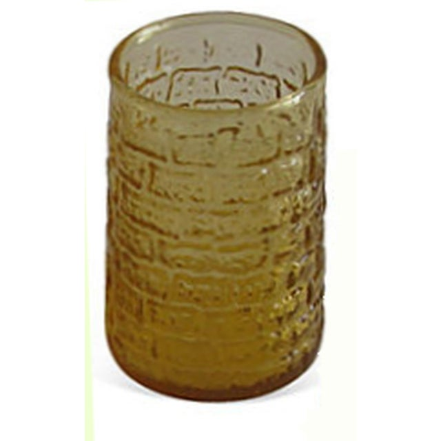 Mid-Century Faux Bamboo Amber Glasses - S/6 - Image 2 of 2