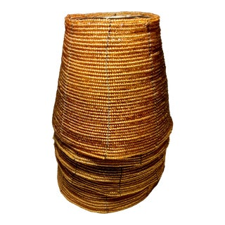 Vintage Amber Gold Beaded Clip-On Lamp Shades - Set 5 For Sale