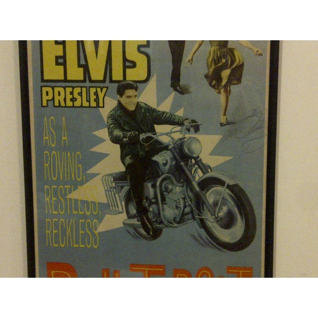 "Vintage Movie Poster ""Roustabout"" Signed by Elvis Presley Circa 1964 For Sale - Image 7 of 10"