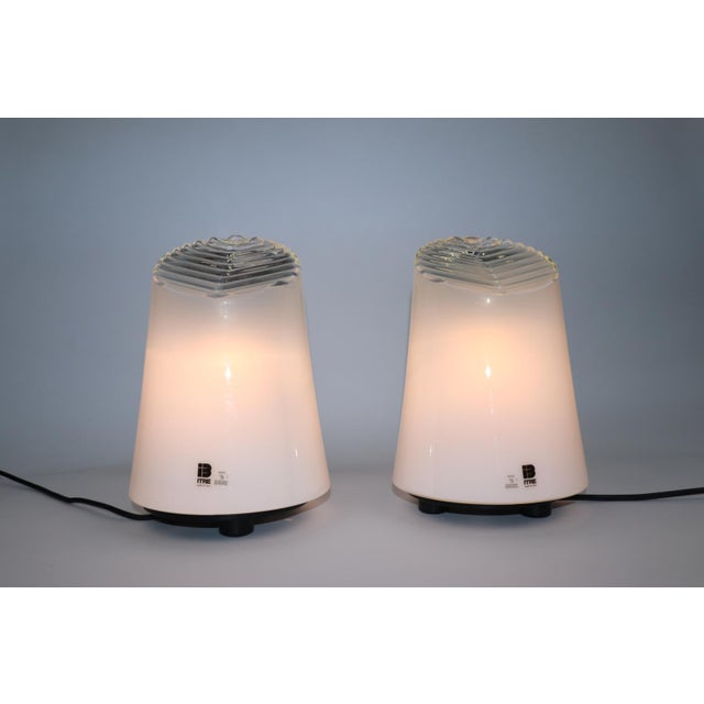 Mid-Century Modern Murano Glass Table Lamps by Itre - a Pair For Sale - Image 3 of 8