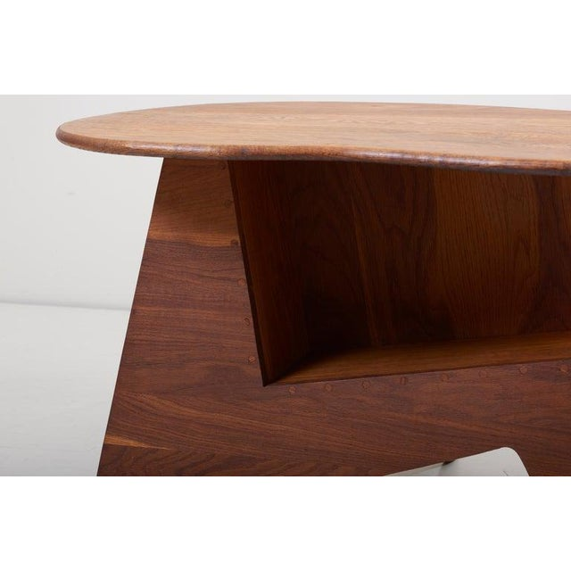 Pair of Wooden Mid-Century Modern Studio Side Tables, Us For Sale - Image 4 of 12