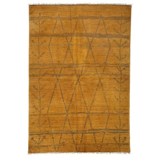 "Moroccan Hand Knotted Area Rug - 6'1"" X 8'10"" For Sale"