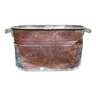 Vintage Copper Boiler/Tub Hominy Pot For Sale