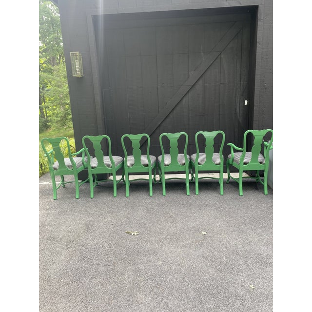 Lacquered Dining Chairs - Set of 6 For Sale - Image 4 of 12