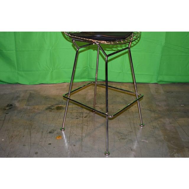 Metal Knoll Bertoia Barstool For Sale - Image 7 of 8