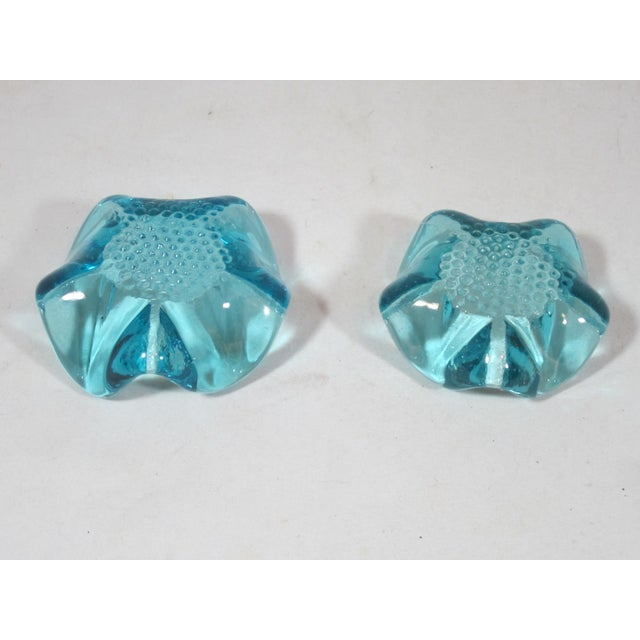 Mid-Century Modern Blue Glass Nut Dishes - a Pair For Sale - Image 4 of 7