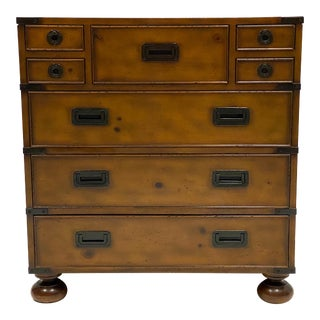 Vintage Baker Furniture Milling Road Campaign Style Chest For Sale