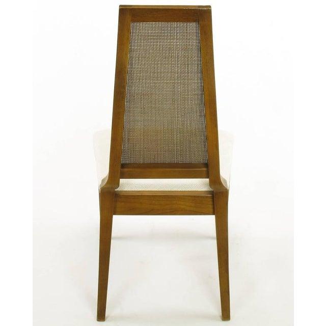 Sleek, circa 1950s Modern Walnut and Cane Dining Chairs - Image 8 of 10