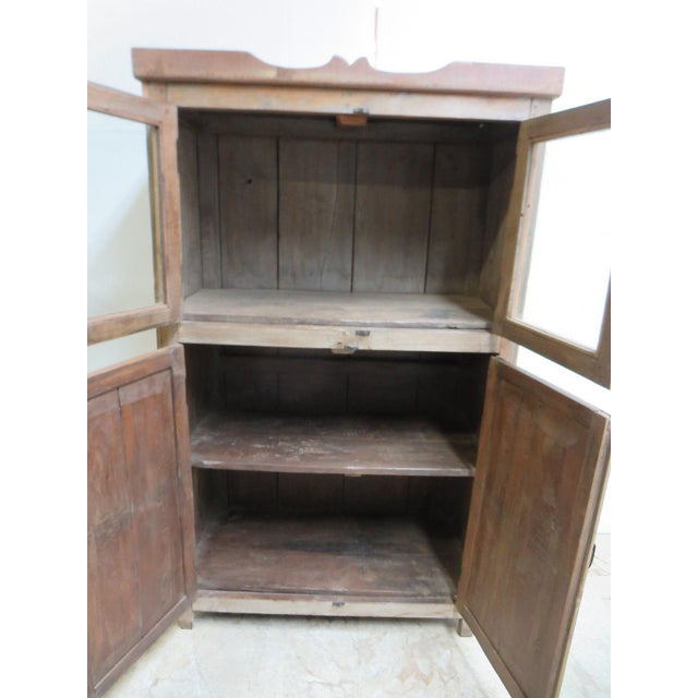 Antique Primitive Hutch China Cabinet Cupboard - Image 4 of 7