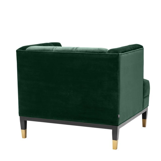 Green Tufted Cube Chair | Eichholtz Castelle For Sale - Image 4 of 9