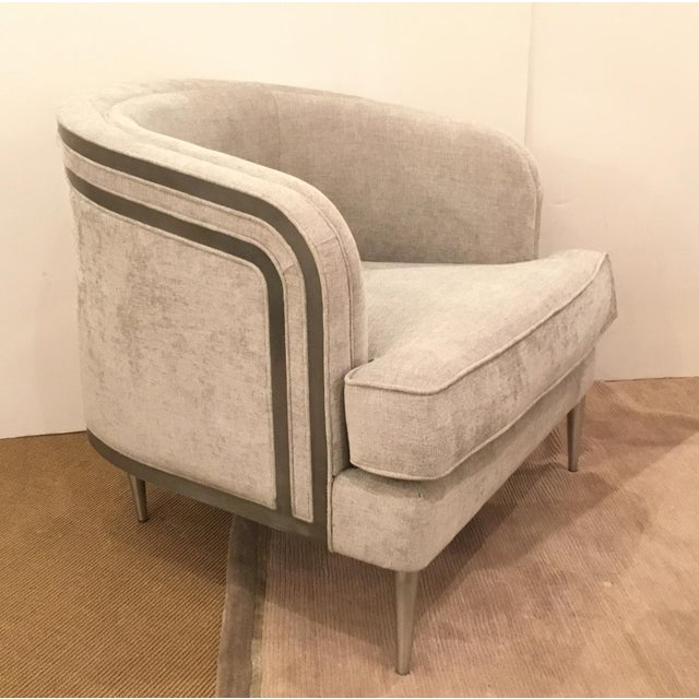 Metal Caracole Modern Tranquil Gray Club Chair For Sale - Image 7 of 7