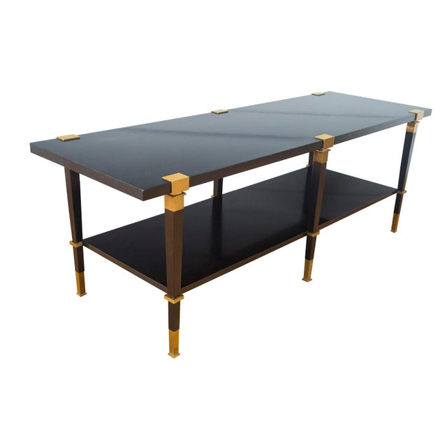 Andre Arbus 'Avenue' Ebonized Walnut Cocktail Table For Sale - Image 10 of 11