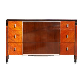 1950s Hollywood Regency Northern Furniture Company Mahogany Chest of Drawers For Sale