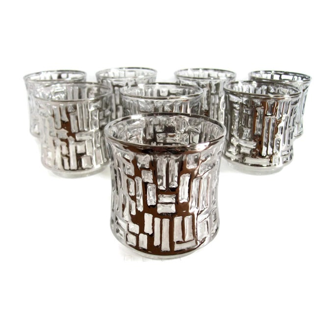 Mid-Century Artica Lowball Glasses, Silver Bamboo - Image 1 of 7