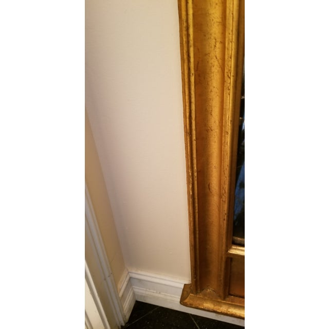 Tall Antique French Golt Gold Trumeau Mirror For Sale - Image 10 of 13