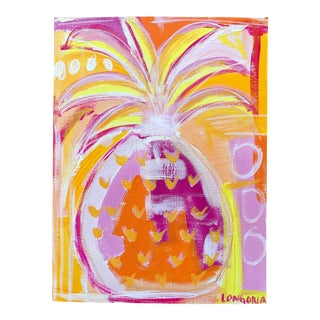 Pineapple #2 Abstract Painting by Christina Longoria For Sale