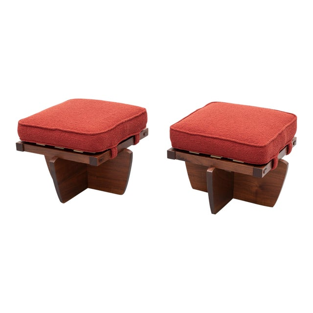 Pair of Greenrock Stools by George Nakashima, New Hope, Pa For Sale
