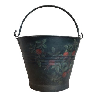 Antique Painted Fruit Bucket For Sale