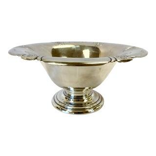 1920s Traditional Sterling Silver Monogrammed Pedestal Bowl For Sale