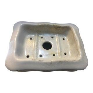 Vintage English Ironstone China Soap Dish For Sale