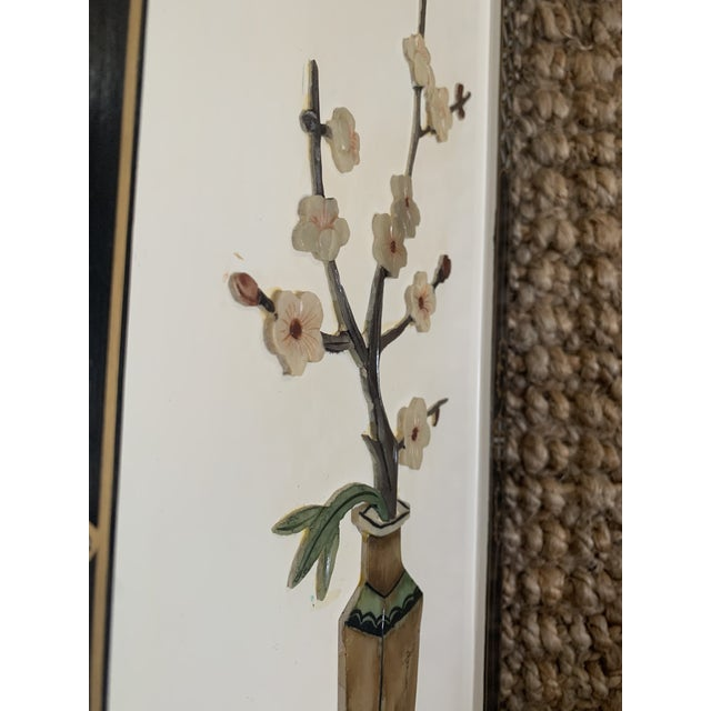 Early 20th Century Asian Wall Panels - Set of 4 For Sale - Image 12 of 13