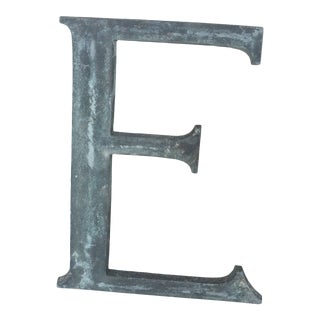 """19th Century French Cast Bronze Letter """"E"""" For Sale"""