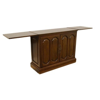 20th Century Traditional Davis Cabinet Co. Solid Walnut Flip-Top Server For Sale