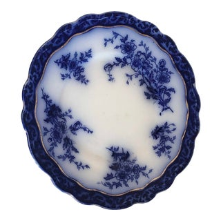 Antique Touraine Flow Blue Plate For Sale