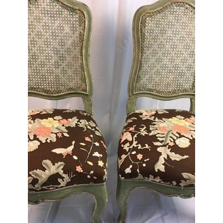 1900s Hollywood Regency Palm Beach Style Cane Back Chairs - a Pair Preview