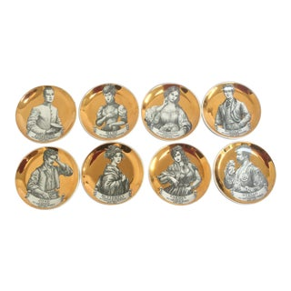 Fornasetti Melodramma Coasters - Set of 8 For Sale