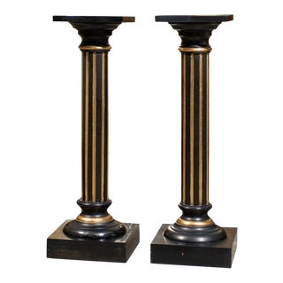 Antique Swedish Neoclassical Late Empire Pedestals - a Pair For Sale