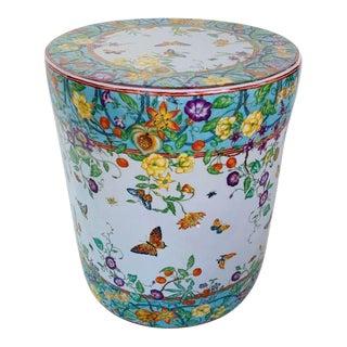 Ceramic Floral Design Garden Stool For Sale