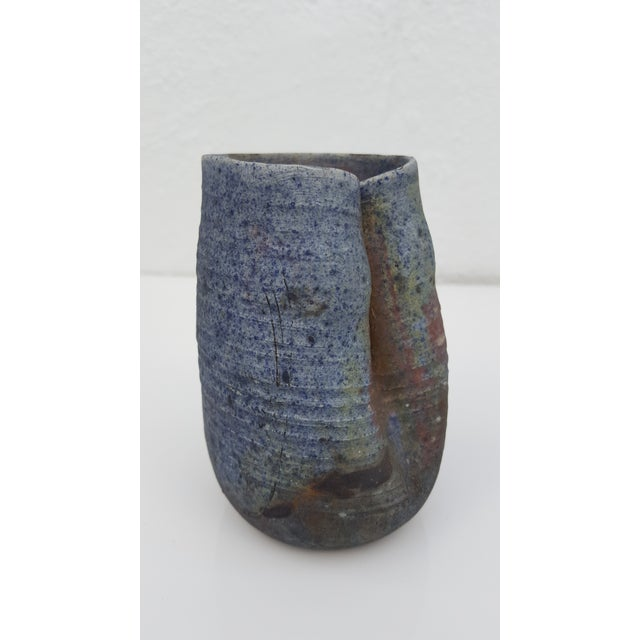 "70's ""Ruth Lalaine "" Raku Pottery Vases - Set Of 3 For Sale - Image 5 of 10"