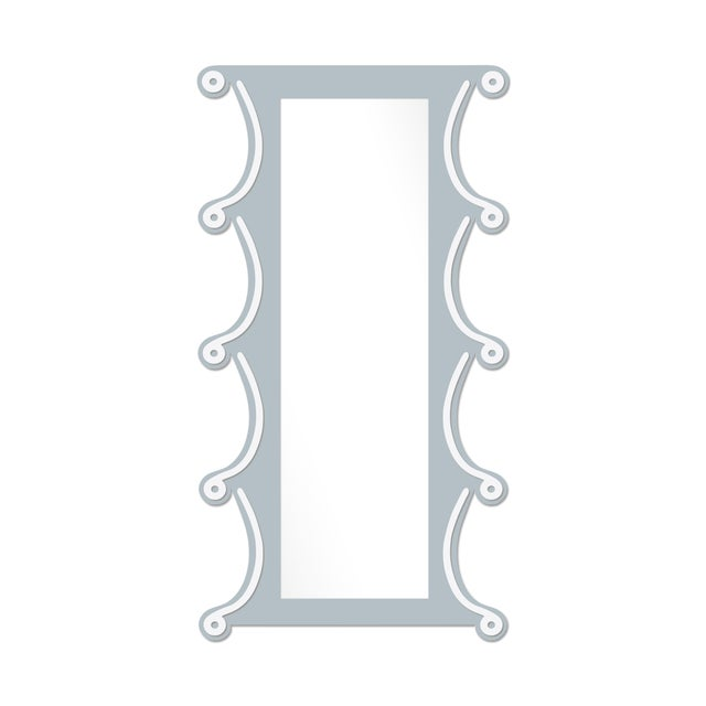 Contemporary Fleur Home x Chairish Voodoo Mirror in Parma Gray, 42x84 For Sale - Image 3 of 3