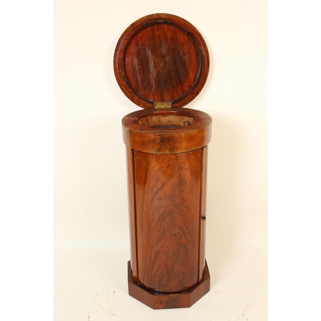 Late 19th Century 19th Century Napoleon III Flame Mahogany Cylinder Cupboard For Sale - Image 5 of 13