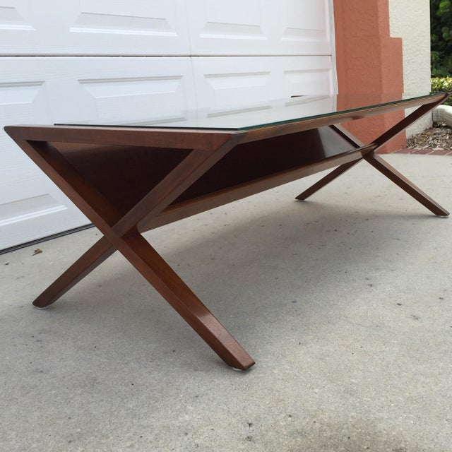John Van Koert Walnut Coffee Table - Image 11 of 11