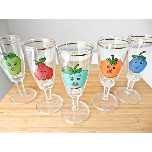 Cordial Fruit Face Shot Glasses - Set of 5 - Image 4 of 7