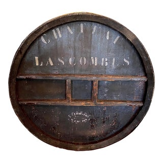 19th Century French Château Las Combes Wine Barrel Façade For Sale